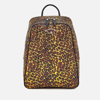 At Mybag Vivienne Westwood Women S Leopard Backpack Yellow