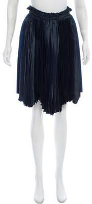 Cédric Charlier Plissé Knee-Length Skirt