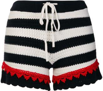 Pinko Quinoa striped shorts