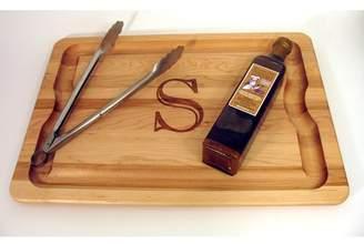 """J.K. Adams BBQ Cutting Board 20"""" x 14"""" Monogrammed Gift Set"""