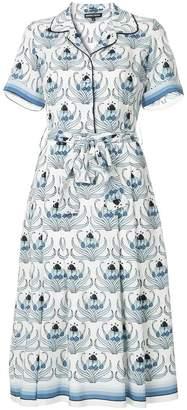 Markus Lupfer floral print midi dress