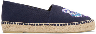 Kenzo Navy Canvas Tiger Espadrilles $175 thestylecure.com