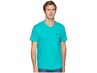 U.S. Polo Assn. Short Sleeve Solid V-Neck T-Shirt Men's Short Sleeve Pullover