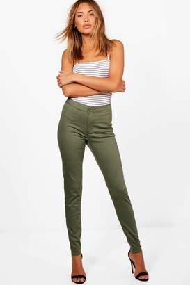 boohoo High Rise Tube Jeans