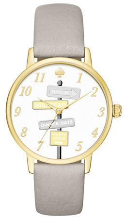 Kate Spade Kate Spade New York Goldtone Stainless Steel and Leather Strap Watch