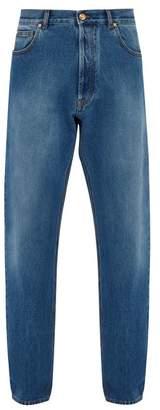 Versace Medusa Head Loose Fit Denim Jeans - Mens - Blue