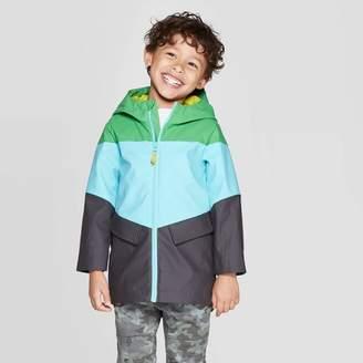Cat & Jack Toddler Boys' Solid Rain Coat Green