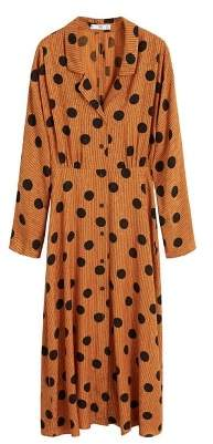 MANGO Polka-dot print dress
