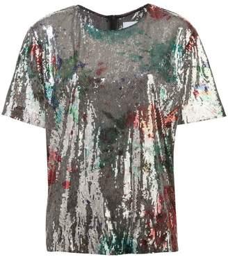 Halpern sequinned T-shirt