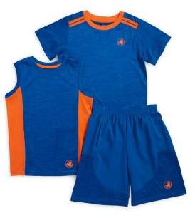 Body Glove Little Boy's Three-Piece Activewear Tank Top, Tee and Shorts Set