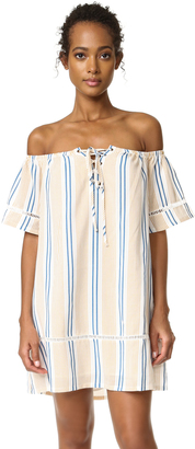 J.O.A. Stripe Off The Shoulder Dress $88 thestylecure.com