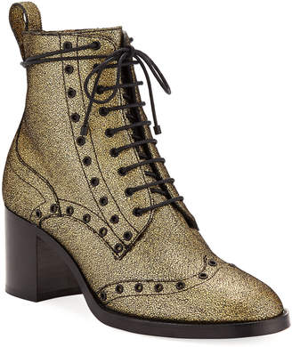 Jimmy Choo Hanah Crackled Leather Booties