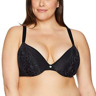 Just My Size Women's Lightweight Curve Enhancing Embellished Plunge Bra