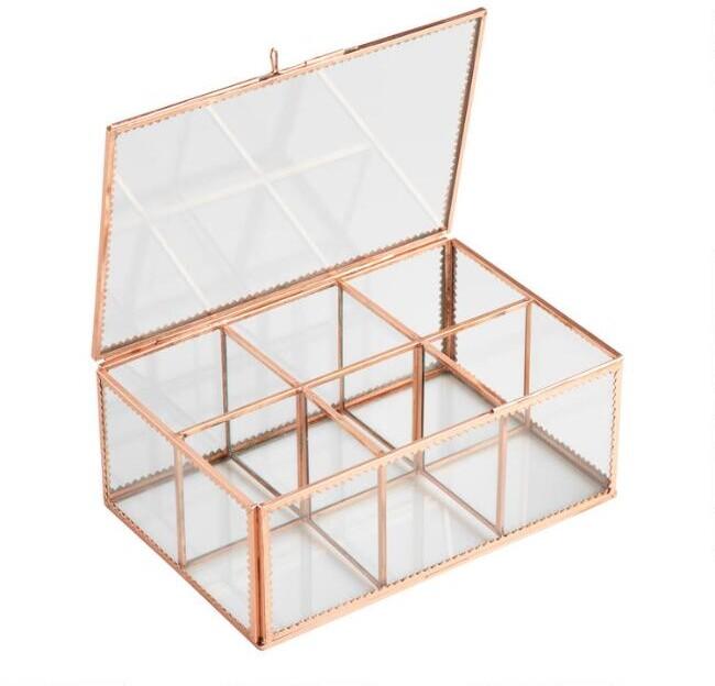 Copper Glass Tea Storage Box