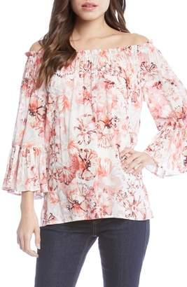 Karen Kane Floral Off the Shoulder Convertible Top