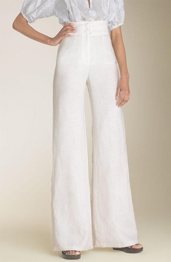 Organic John Patrick High Waist Crinkled Linen Pants