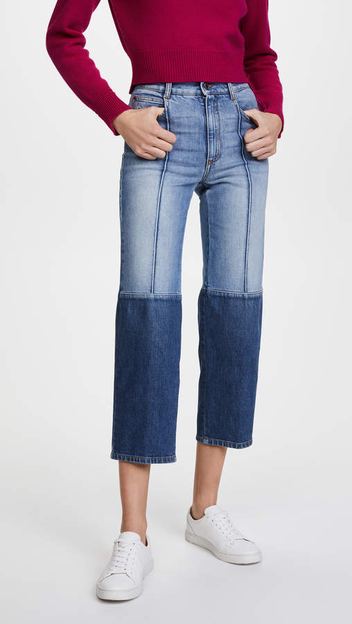 The High Waist Two Tone Jeans