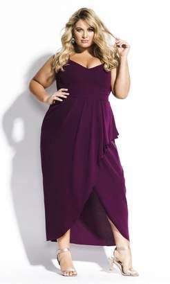City Chic Romance Maxi Dress - Mulberry