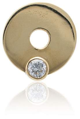 Foundrae 18K yellow gold and diamond charm disc necklace