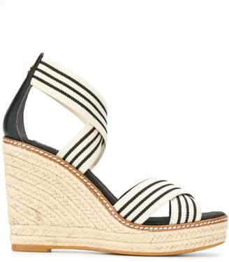 Tory Burch striped wedged sandals