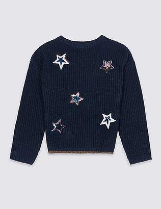 Marks and Spencer Cotton Rich Star Jumper (3-16 Years)