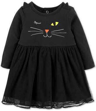 Carter's Baby Girls Cotton Cat Dress