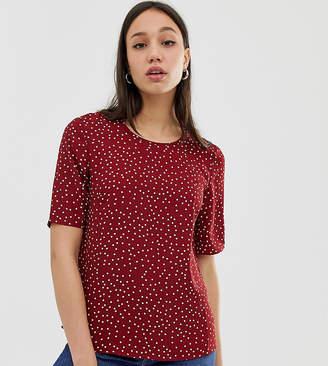 Glamorous Tall top in mini polka dot