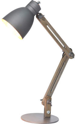 Armenta Wood Frame And Steel Base Table Lamp