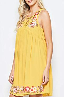 Andree By Unit Embroidered Golden Sundress