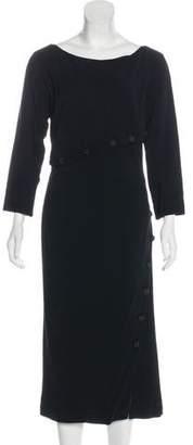 Alexander McQueen Three-Quarter Sleeve Midi Dress