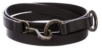 Donna Karan Leather Wrap-Around Belt