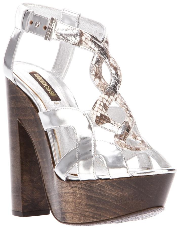 Roberto Cavalli platform sandal