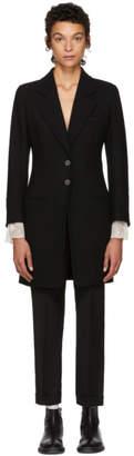 Ann Demeulemeester Black Long Howard Blazer Coat