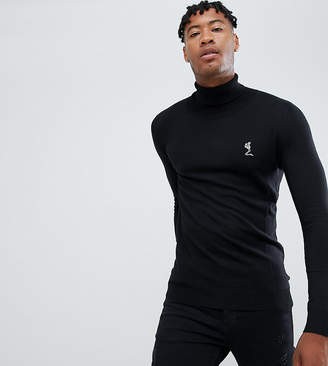 Religion Tall Muscle Fit Knit Sweater In Black