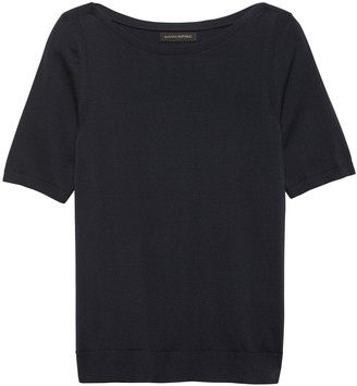 Banana Republic Stretch-Cotton Sweater Top