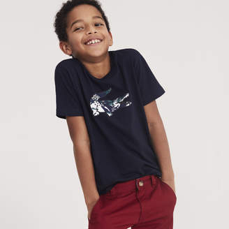 Lacoste Boys' Oversized Crocodile Cotton Jersey T-shirt