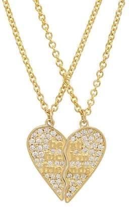 Established Mini Diamond Best Fuckin Friends (2 Piece) Heart Necklaces