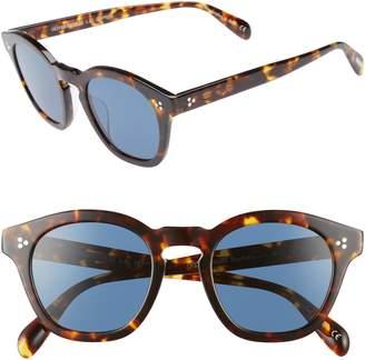0c09d03ea85 ... Oliver Peoples Boudreau L.A. 48mm Round Sunglasses