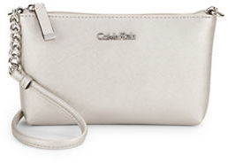 Calvin Klein Calvin Klein Crosshatch Leather Crossbody Bag