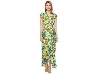 Taylor Chiffon Floral Maxi Wrap Dress Women's Dress