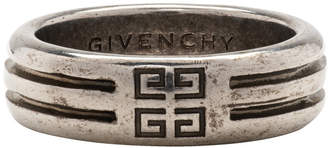 Givenchy Silver 4G Double Row Ring
