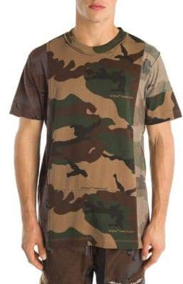 Off-White Reconstructed Camo Cotton Tee
