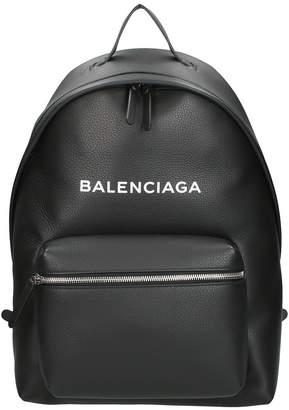 Balenciaga Black Leather Everyday L Backpack