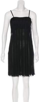 Gucci Sleeveless Lace Knit Dress