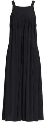 Tibi Pleated Silk Crepe De Chine Midi Dress