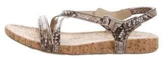 Prada Sport St. Pitone Lux Embossed Leather Sandals