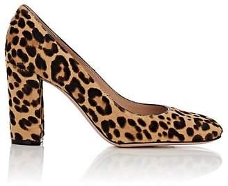 Gianvito Rossi Women's Leopard-Print Calf Hair Pumps