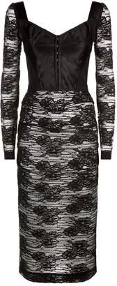 Dolce & Gabbana Sheer Lace Bustier Dress
