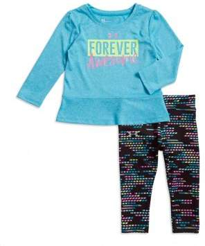 Under Armour Baby Girl's Forever Awesome Two-Piece Top and Pants Set