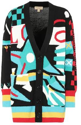 Burberry Intarsia wool and cotton cardigan